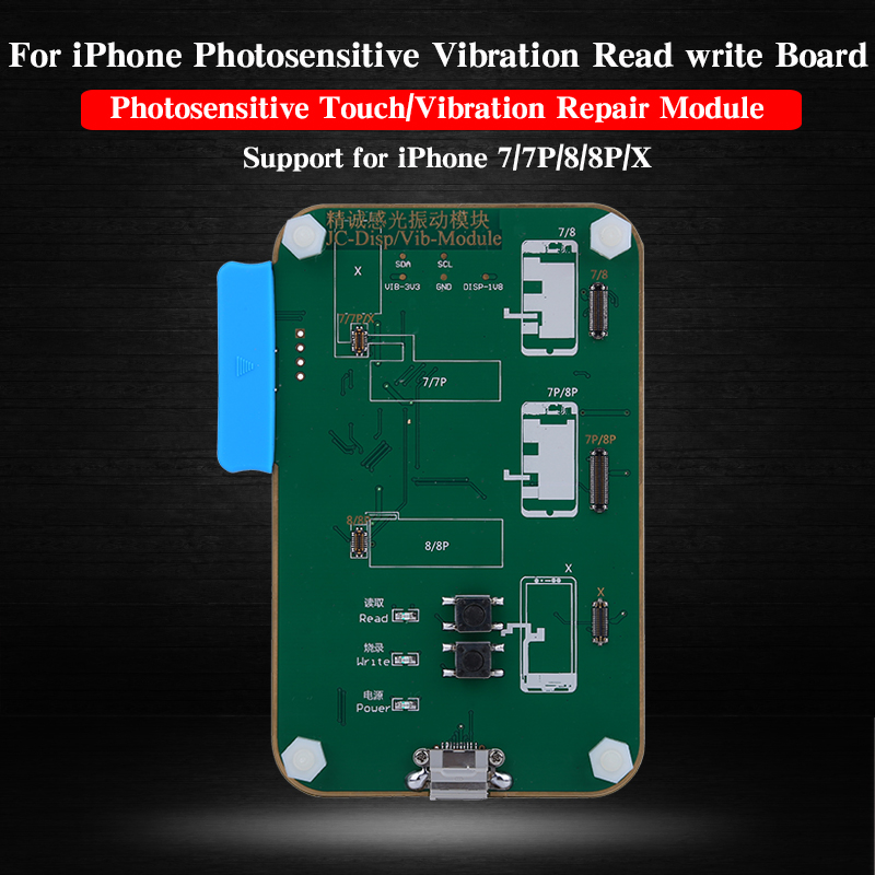 JC Pro1000s LCD Screen Photosensitive Data Programmer Backup Read Write and Vibration Repair Module For iPhone