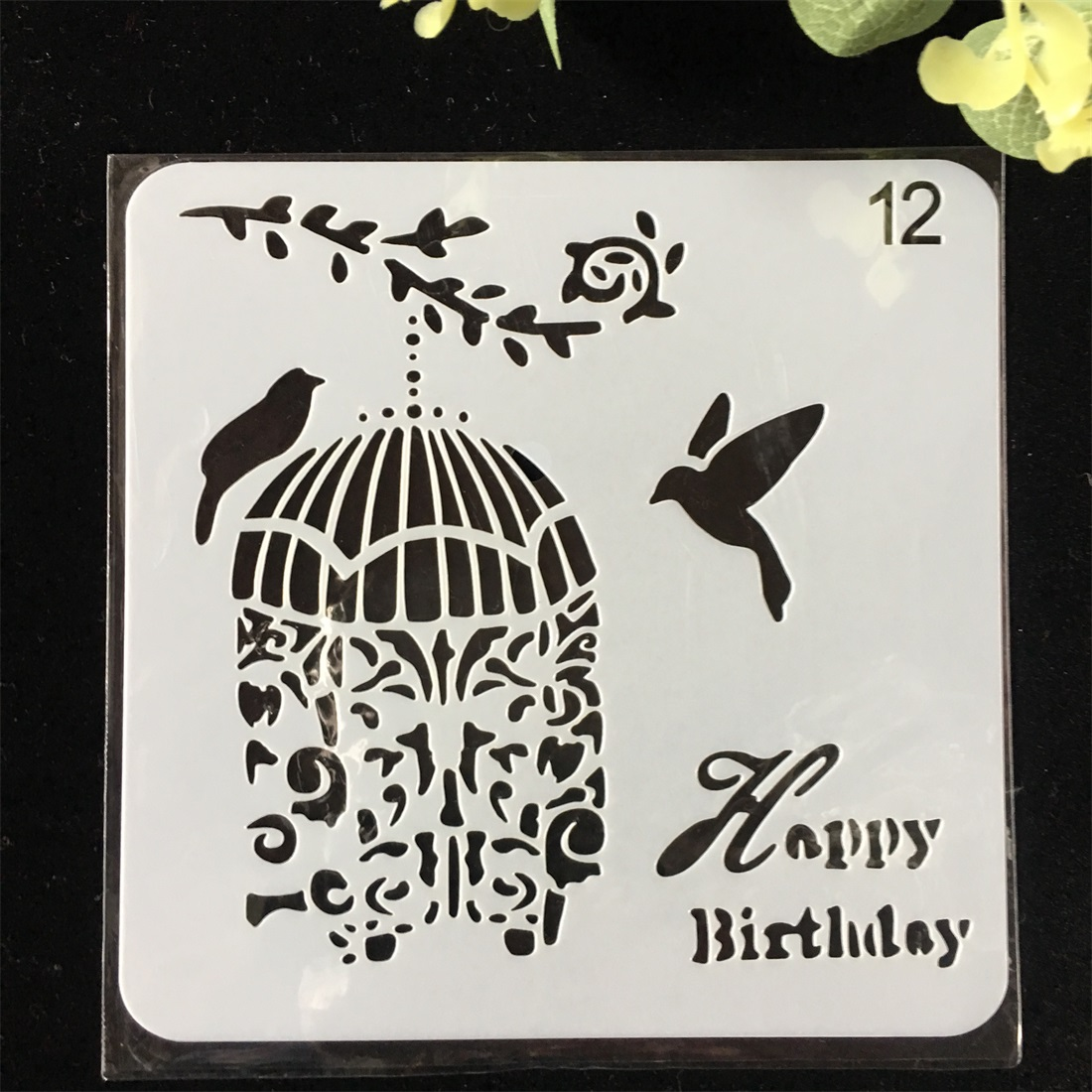 1Pcs 15cm Birdcage Bird DIY Layering Stencils Wall Painting Scrapbook Coloring Embossing Album Decorative Card Template