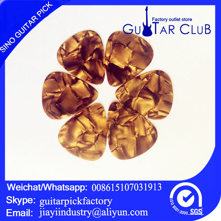 Free shipping blank gold celluloid pearl guitar picks 0.96mm bass electric guitar