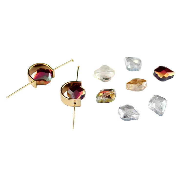 50 шт. 9 мм * 10 стеклянные бусины неправильной формы с отверстием для