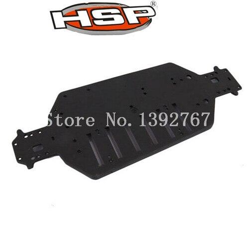 Hsp части 04001 пластиковые черный шасси плиты в течение 1/10 масштаба внедорожных багги грузовик RC режим г / с автомобилем оригинальные запасные ...