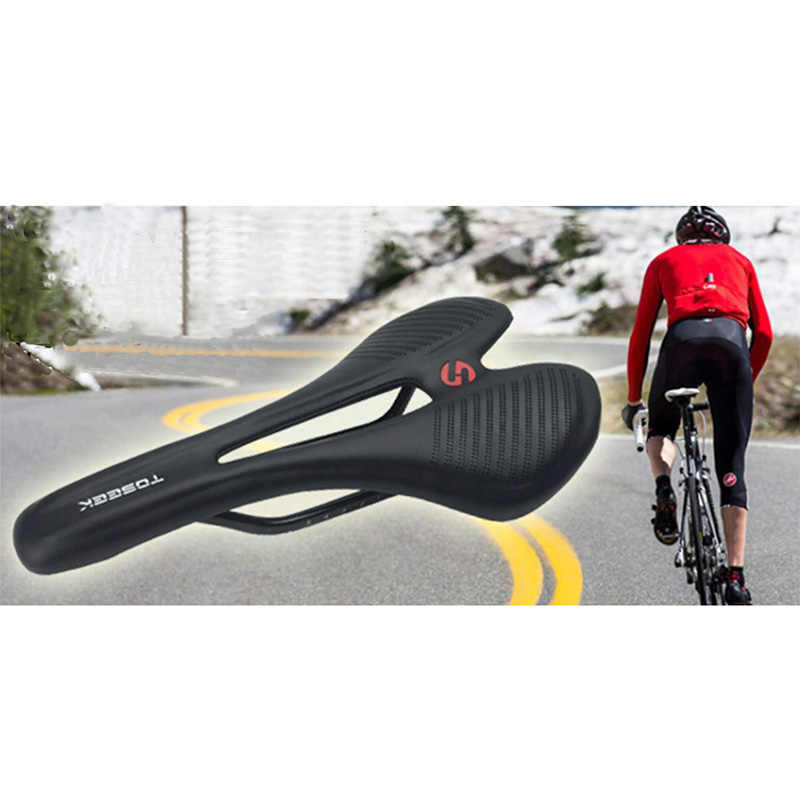 Asiento de bicicleta ultraligero, Cojín de fibra de carbono, piezas de repuesto para bicicleta de carretera, bicicleta de montaña, asiento delantero, asiento de carbono humano