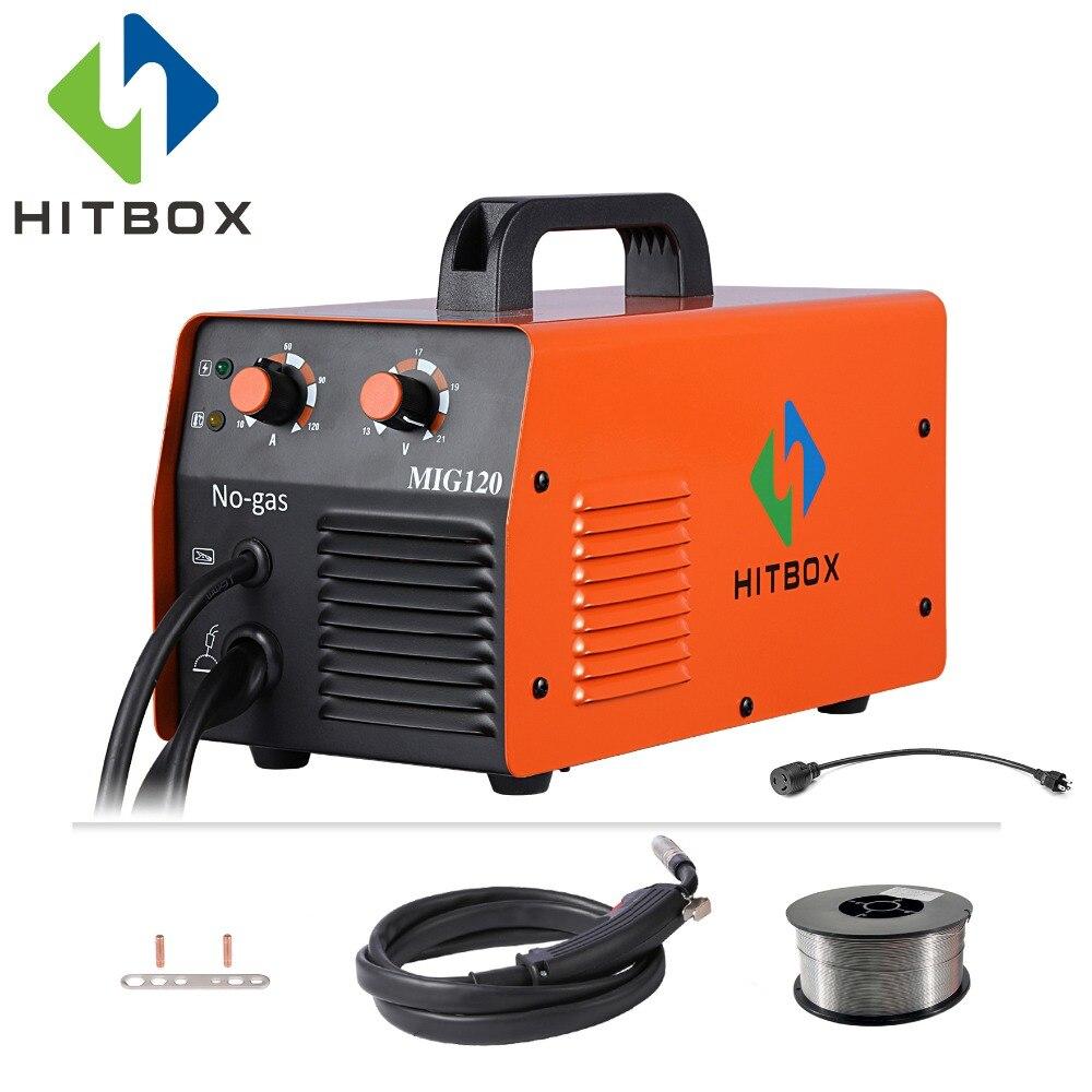 HITBOX Mig soudeur sans gaz 220V MIG1200 Mag soudeurs fer acier soudage équipement MIG MAG soudeuse Portable