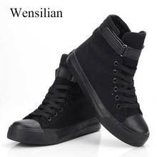 High Top Sneakers Women Vulcanize Shoes Basket Femme White Canvas