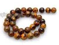 SALE Big 12mm High quality Orange round Chrysocolla beads strands 15