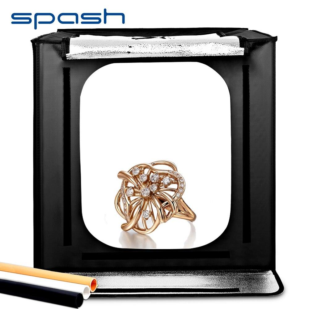 Spash F60 Pliage Boîte de Photo Studio Boîte à Lumière Softbox Portable 60*60*60 cm 5500 k CRI95 Lightbox studio de photographie Tente Tir