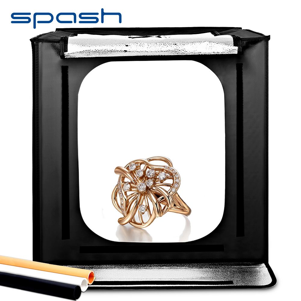 Spash F60 boîte à photos pliante Studio boîte à lumière Portable Softbox 60*60*60 cm 5500 K CRI95 Lightbox photographie Studio tente de tir