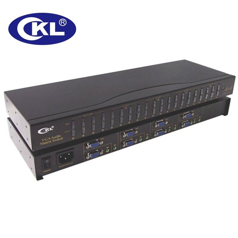 CKL-4A4 4x4 matrice VGA commutateur Spliter boîte avec Audio et IR à distance