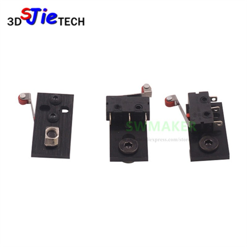 3pcs/lot Openbuilds Parts CNC Aluminum Micro Limit Switch Kit With Mounting Plate 3D Printer