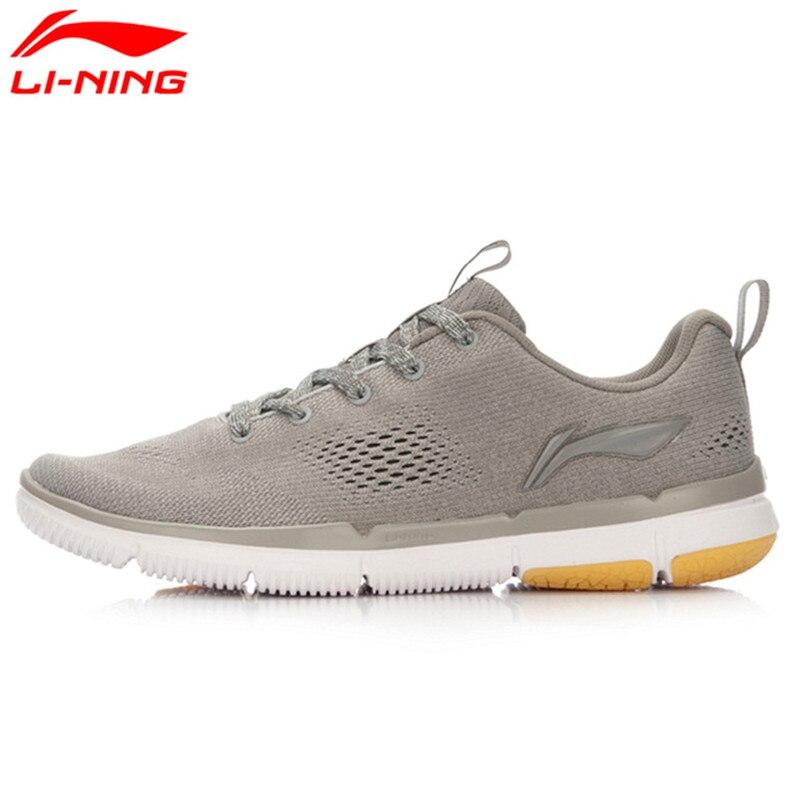 ФОТО Li-Ning Original Men's Soft-Fit Walking Shoes Textile Breathable Sneakers Sports Life Comfort Sports Shoes ACGL053