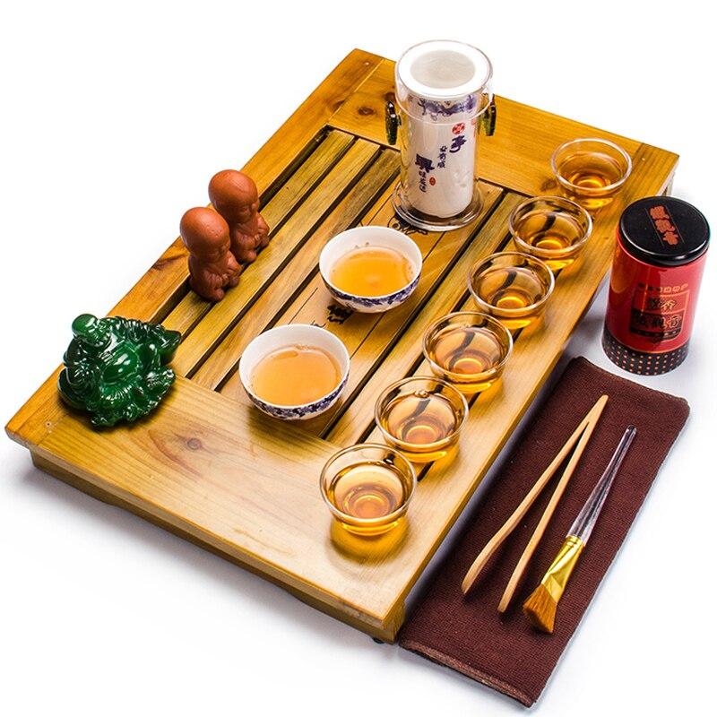 Beaux ensembles de thé comprennent 1 Pot 6 tasses 2 tasses à thé en céramique de haute qualité élégante théière portable bouilloire avec plateau à thé A032-3