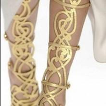 Золотистые сапоги; летние женские туфли-гладиаторы; пикантные высокие сапоги на шпильках с вырезами; ботильоны; Feminino Mujer; ботинки для выступлений
