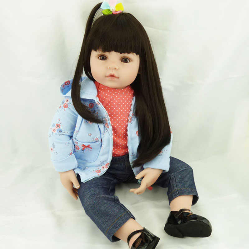 Forrsdor60 cm strój sportowy miękki żel krzemionkowy regenerowane Doll miękkie ciało piękne oczy prezenty urodzinowe boże narodzenie prezenty ręcznie robione Lol zabawka