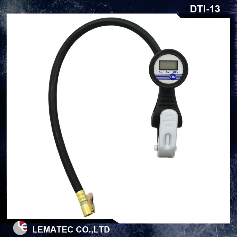 LEMATEC Digital tire inflator with pressure gauge for auto car truck motorcycle tyre inflating gun Taiwan Made Air Pressure Tool 0 100 psi tire air pressure gauge meter tester for car truck motorcycle 0 7kg cm2