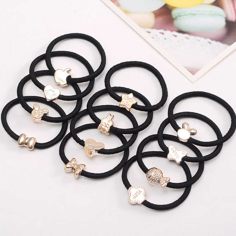 1Pc Women Girls Hot Sale Cute Ponytail Holder Rubber Elastic Band Hair Ties Rope Hair Accessories