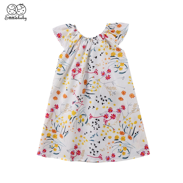 175c0717f8e9 Emmababy 1 6Y Kids Baby Girl dresses summer cotton girls Floral ...