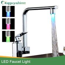 LED Kraan Licht Temperatuursensor Intelligente Herkenning Temperatuur Verschillende Kleurrijke LED Licht Kleur Water Tap Douche