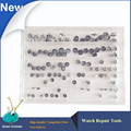 Wholesale 100pcs/set Assort Size Watch Crowns set Stainless steel Watch Crowns replacement parts for watchmakers