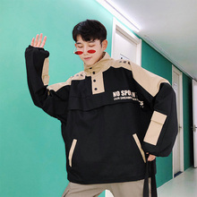2019 autumn Recommend Korean version Loose The new listing Fashion young and energetic jacket casual black green size M-5XL