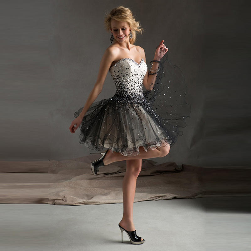Popular fluffy prom dresses buy cheap fluffy prom dresses for Short fluffy wedding dresses