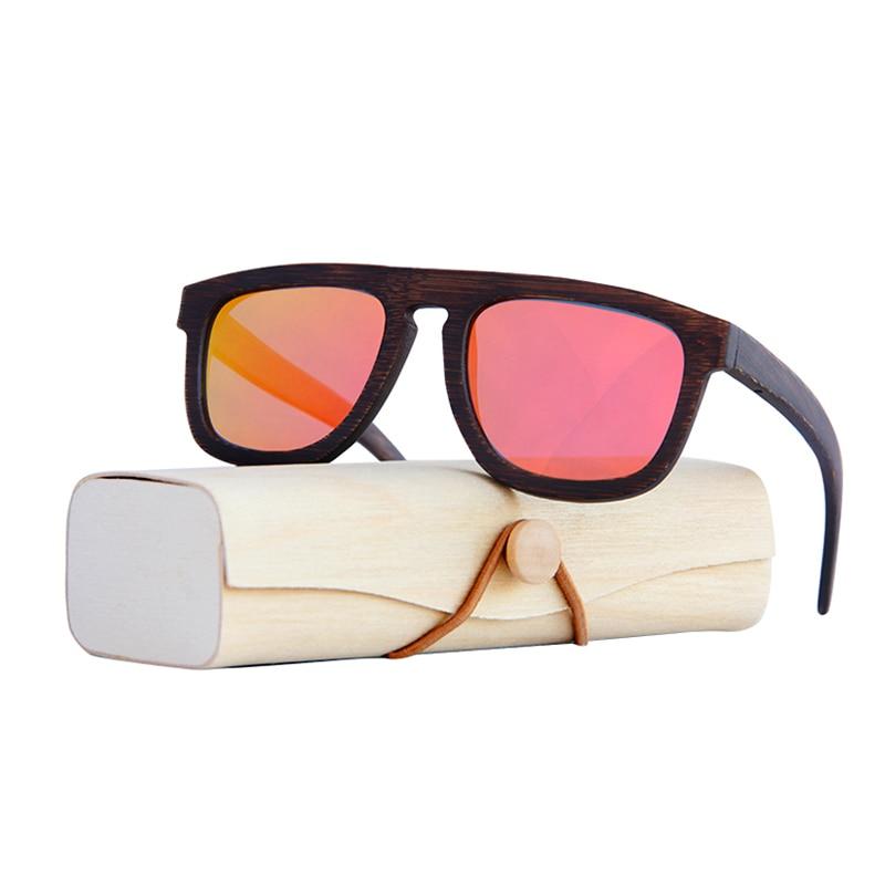 Tingimento do vintage óculos Polarizados armação De Bambu óculos de sol  Unissex para as mulheres Praia 9a695a72af
