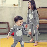 Syue Moon Girls Pajamas Sets 2017 Kids Cute Totoro Pyjamas Children 100 Cotton Sleepwear Baby Boy