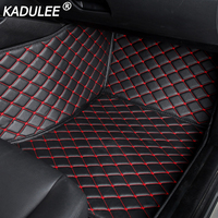 KADULEE car floor Foot mat For Mitsubishi pajero sport 4 grandis lancer outlander xl 2017 2013 car accessories waterproof carpet