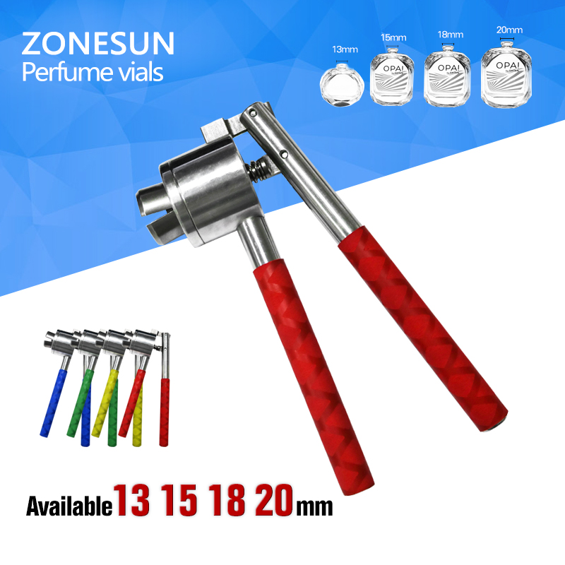 ZONESUN  13mm 15mm 18mm 20mm Stainless Steel  capping crimper for perfume bottle perfume bottle sprayer pump lid cap seal crimping machine pliers tool for 13mm 15mm 20mm optional