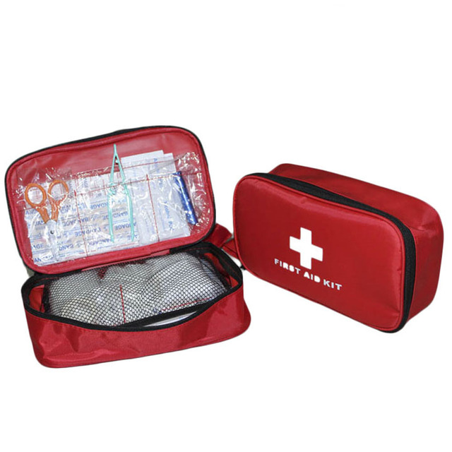 23pcs Waterproof Nylon First-aid Kit Package Emergency Bag Portable Travel Outdoor Survival Medical Bag Sort Out Storage Bag