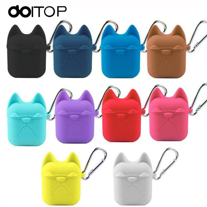 Portable Earphone Case For Apple Airpods Silicone Shockproof Cover Case Headphone Case Earphone Accessories Protective Cover