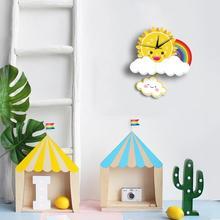 Cute Cartoon Silent Wall Clock Children Living Room Bedroom Hanging Clocks Home Decor