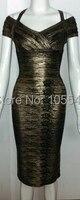 2015 новинка женщин сексуальное недоуздок-образным с коротким рукавом черного золота вечерние ну вечеринку платья повязки