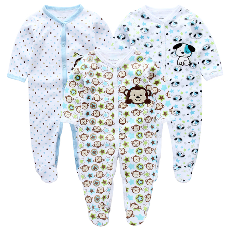 3Pcs/lot Baby Rompers Clothing Long Sleeves 100% Cotton Cartoon Embroidery Newborn Next Body Baby Girls Boys Clothes CP-2 cotton baby rompers set newborn clothes baby clothing boys girls cartoon jumpsuits long sleeve overalls coveralls autumn winter