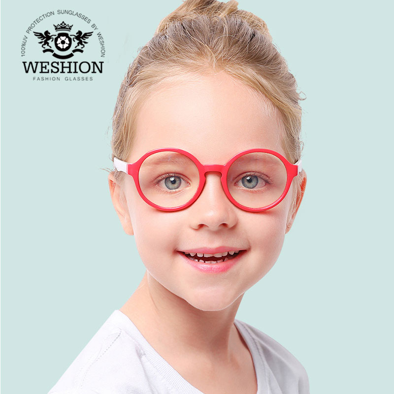 2018 Kids Sunglasses Children Computer Blue Light Blocking Glasses Transparent Cellphone Eyeglasses TR90 environmental Frame blue light blocking glasses