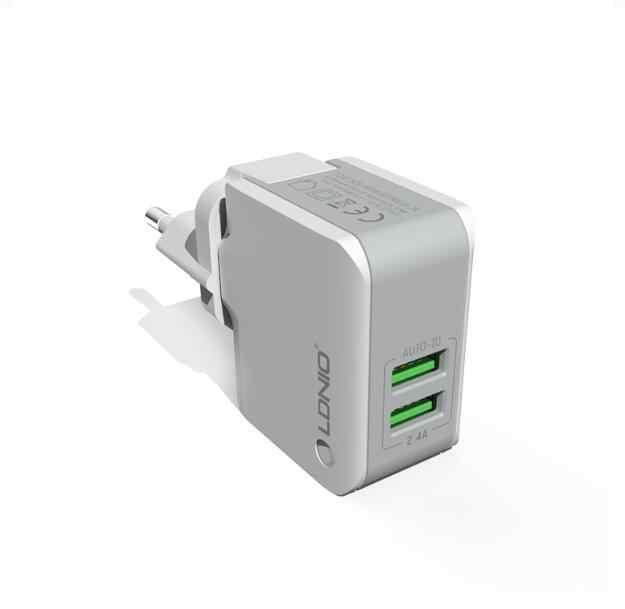 شحن مجاني LDNIO A2203 2-ميناء 5 V 2.4A الذكية شاحن USB للسفر محول الجدار ل فون X سامسونج Xiaomi هواوي مايكرو كابل