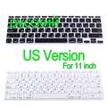 "Russian US Version Silicone Keyboard Cover Skin Protector For Apple MacBook film Air 11"" inch"