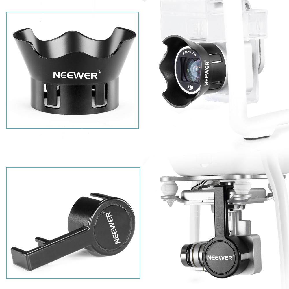 Neewer for DJI Phantom 3 Standard Professional and Advanced Camera Lens Cap Protector Cover, Flower-type Rose Petal Lens Hood 1