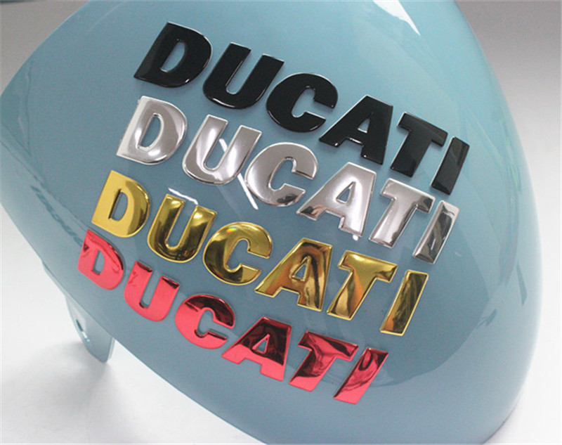 Motorcycle 3d Sticker Decals Logo for Ducati red black gold yellow silver color sticker
