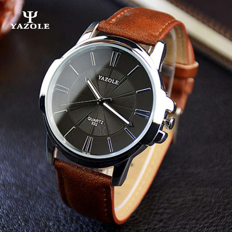 YAZOLE Business 2017 Men Watches Top Brand Luxury Wrist Watch Male Clock Quartz Watch Quartz-watch Relogio Masculino yazole brand lovers watch women men watches 2017 female male clock leather men s wrist watch girls quartz watch erkek kol saati
