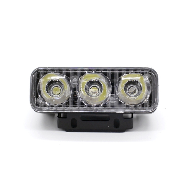 Yituancar 2X3 LEDs 9W Universal Daytime Running Light Source Styling Waterproof Aluminum DC12V White Work Lighting With Lens