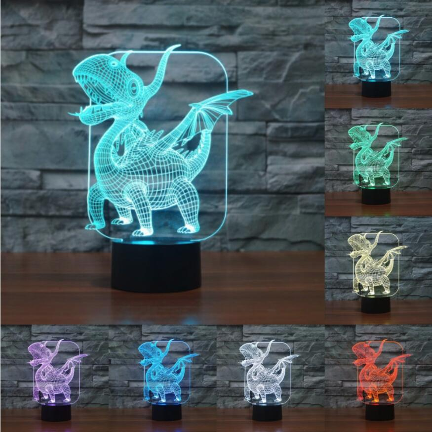 Devoted Game Dinosaur Jurassic Doragon Kuesuto Dragon Quest Figurines Light Figures Lamp Lapras Home Decor Lighting Holiday Toy Gifts Elegant In Style Toys & Hobbies