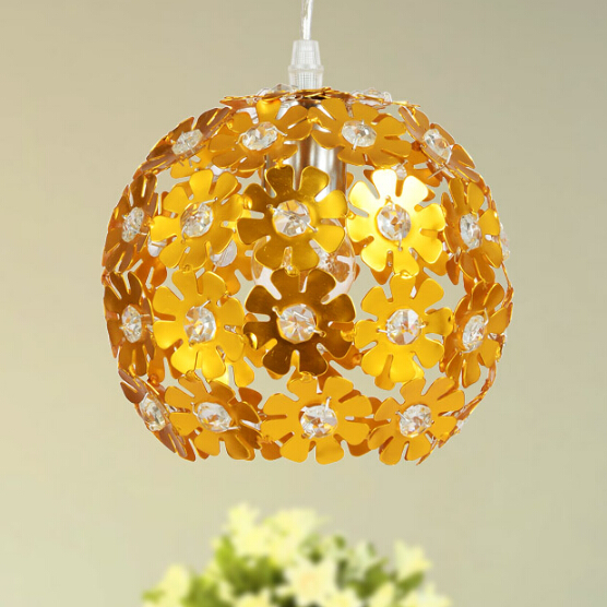 Modern brief pendant light crystal lamp restaurant lamp lamps fashion lighting  free shipping red/golden/Chrome color fashion crystal pendant light restaurant lamp living room pendant light bedroom lamps modern brief led crystal lighting