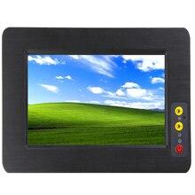 Ayarlanabilir parlaklık 7 inç all in one pc bilgisayar RS485 ve RS232 sağlam dokunmatik ekran endüstriyel tablet pc