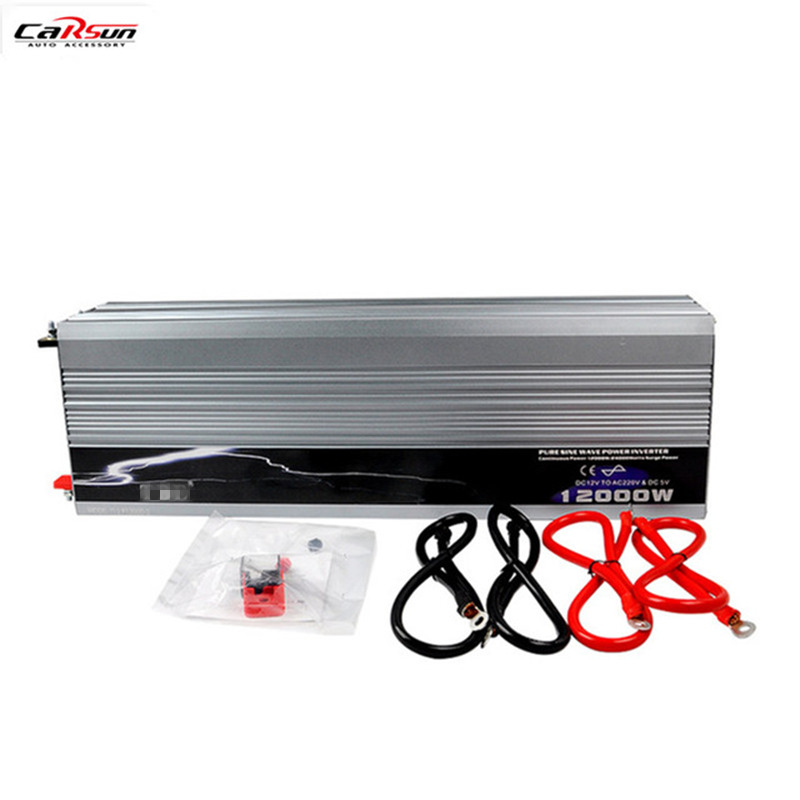 Pure Sine Wave Car Power Inverter 12V 24V 48V To 110V 220V 12KW 12000W For Car