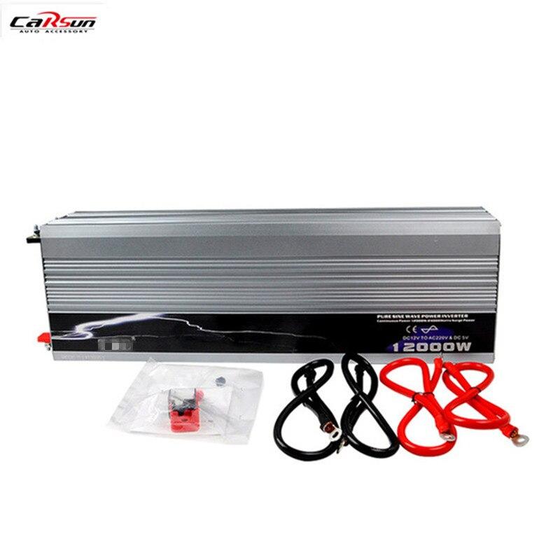 Onda Senoidal pura Potência Do Carro Inversor 12 V/24 V/48 V Para 110 V/220 V 12KW/12000 W Para Carro/Home/Solar/Barco