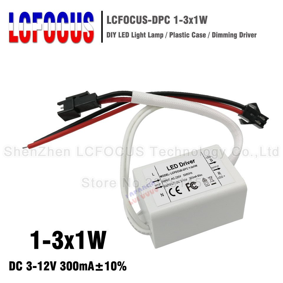 5pcs Led Driver Output Dc 30 60v Current 600ma 10 183w Lighting 512v 300ma Circuit 3w Buy 3wled 1 3x1w Dimmable Plastic 3 W Watt Transformers Power Supply