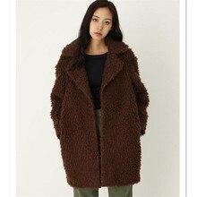 6XL 7XL High Quality Fashion Solid Turn Down Collar Faux Fur Plus Size Warm Top Winter Long Jacket  Fur Coats For Women 2016