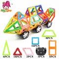 Mylitdear 58 unids tamaño grande modelo de bloques de construcción magnética juguetes educativos 3d diy diseñador magnético ladrillos juguetes para niños
