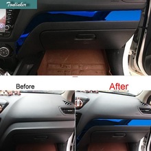 Cover Case Sticker For KIA K2 RIO 2011-16 Car Styling 1 pcs stainless Steel the glove box Copilot seat decoration cover Sticker цена 2017