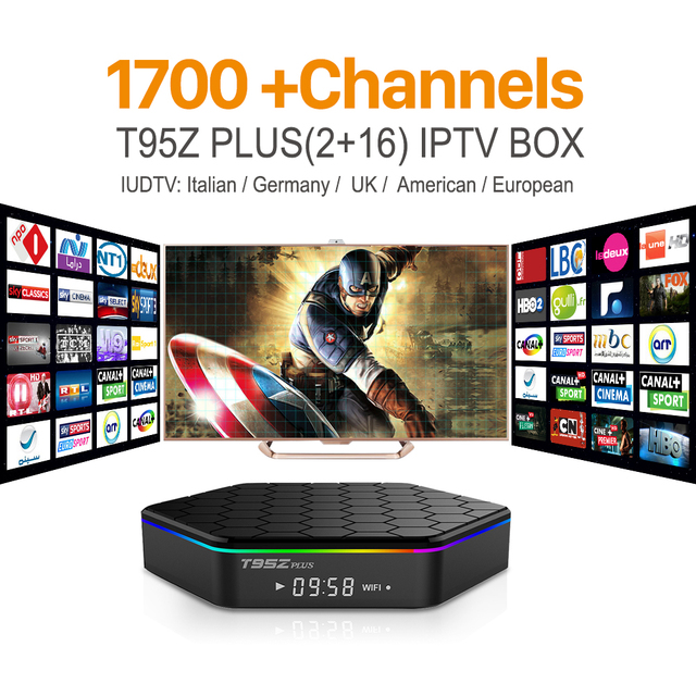 T95Z Plus Amlogic S912 Android IPTV TV Box Octa core ARM Cortex-A53 2G/16G Android 6.0 TV Box WiFi BT4.0 2.4G/5.8G H.265 4K Play
